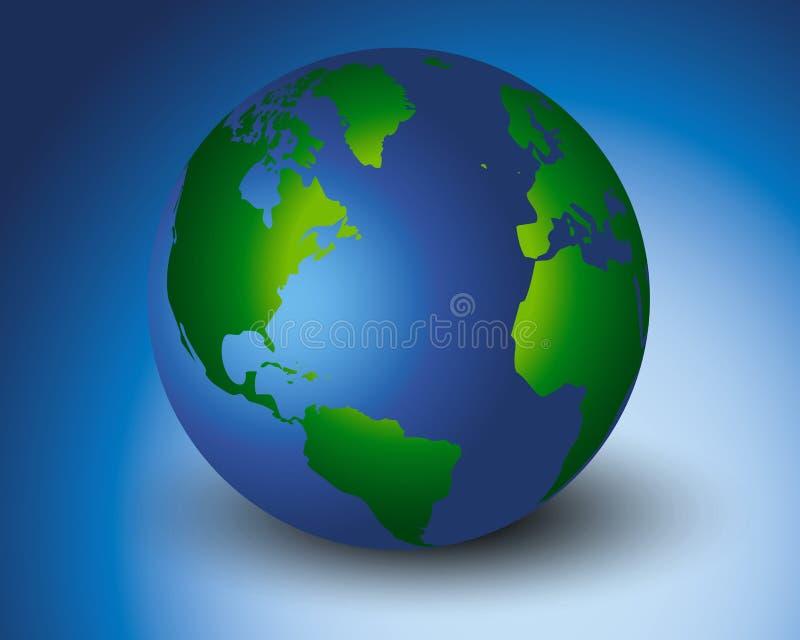更加绿色的世界 向量例证