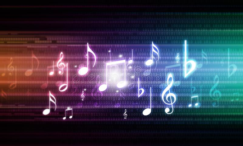 更加音乐抽象的背景我的投资组合 向量例证
