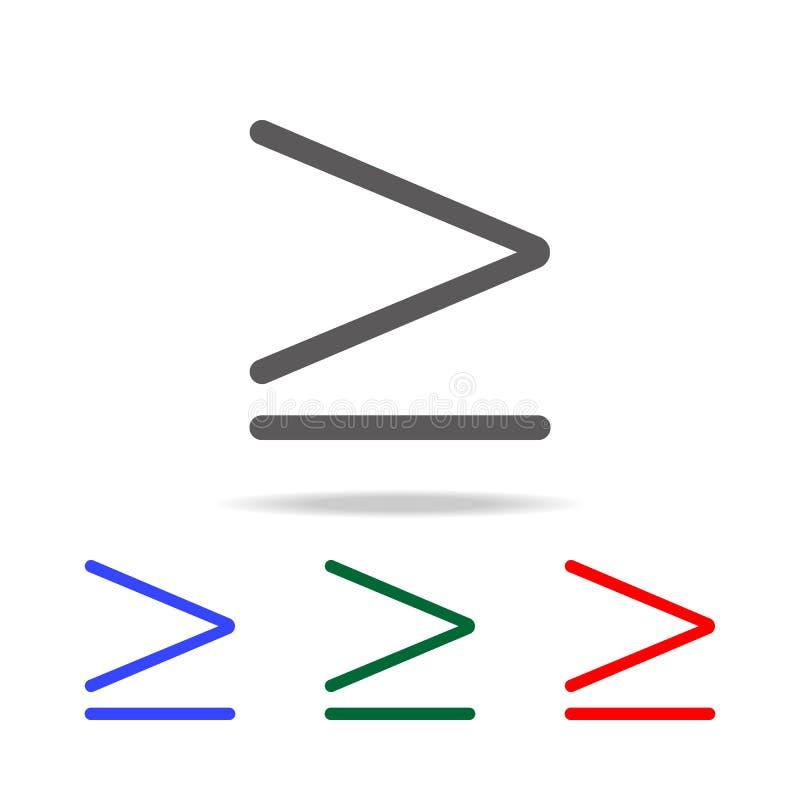 更多或相等的标志象 在多色的象的元素流动概念和网apps的 网站设计和developme的象 向量例证