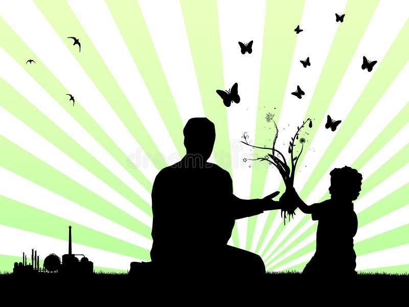 更好的父亲做儿子对世界 向量例证