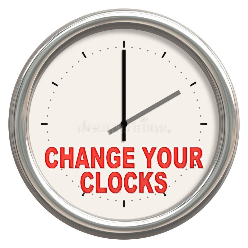更换您的时钟 库存例证