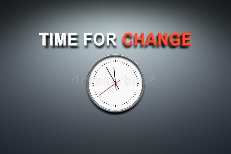 更换时间墙壁 向量例证