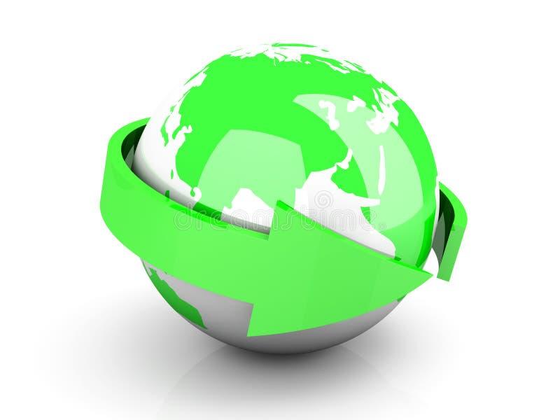 更改全球 向量例证