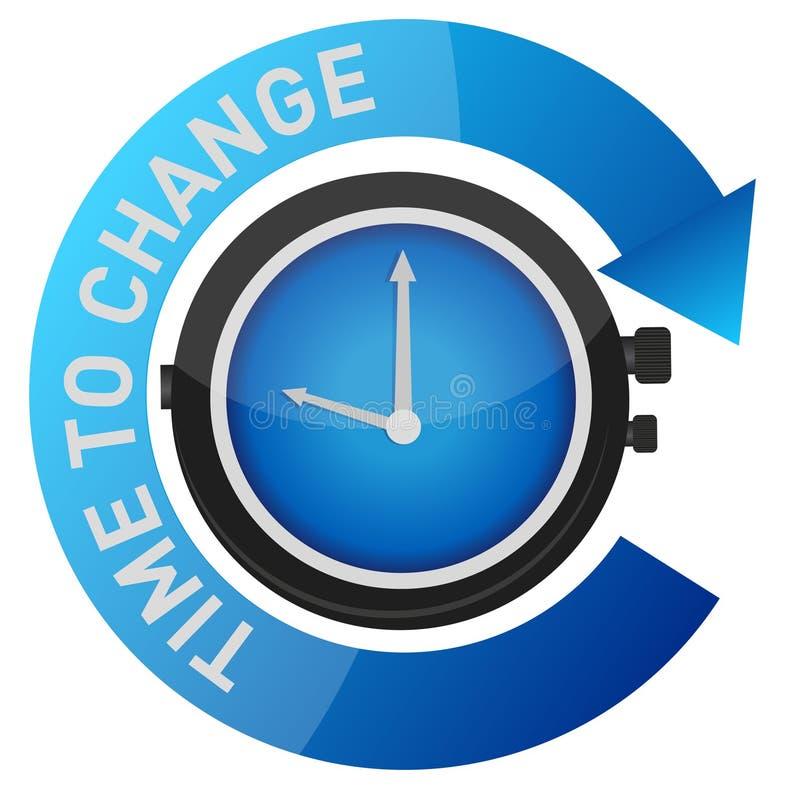 更改概念例证时间 库存例证