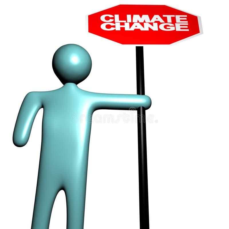 更改气候人员终止 向量例证