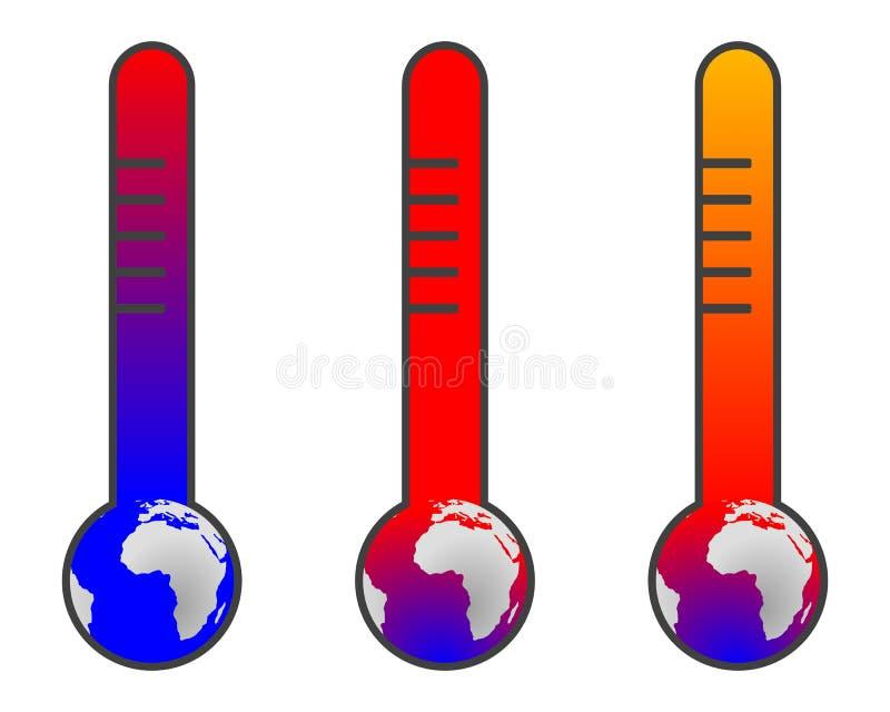更改气候全球性变暖 向量例证