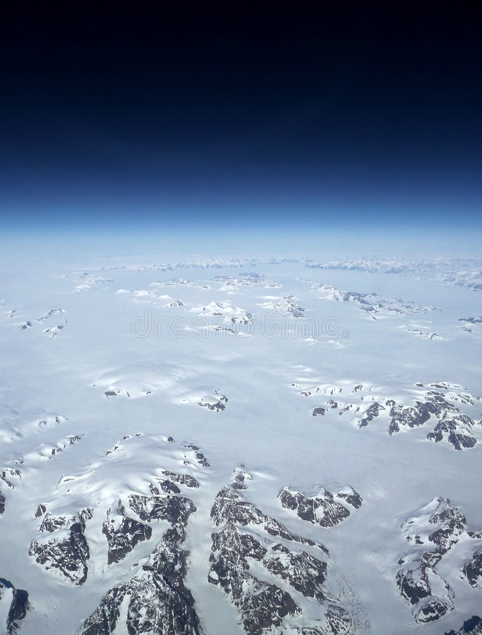 更改气候格陵兰 图库摄影