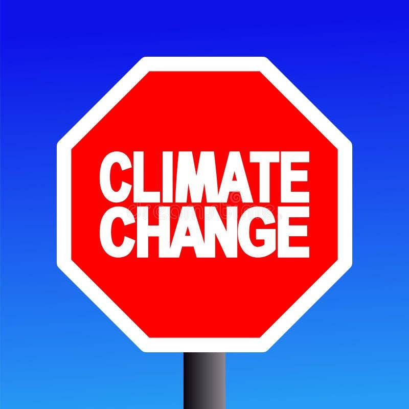 更改气候符号终止 向量例证
