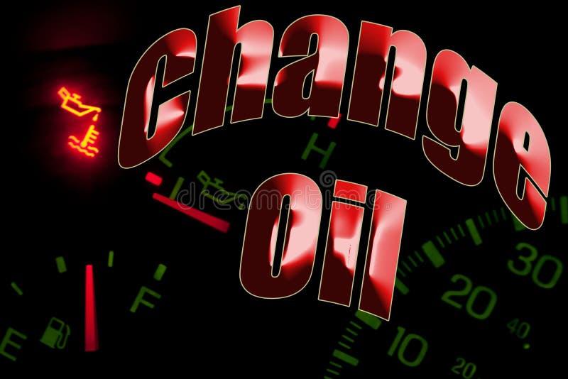 更改油服务引擎光 皇族释放例证