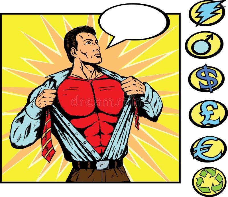 更改的超级英雄 皇族释放例证
