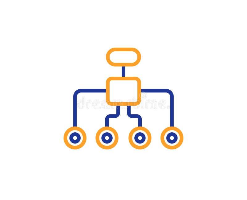 更改结构线象 企业结构标志 向量 库存例证