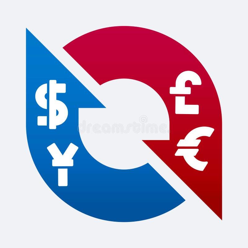 更改货币 向量例证