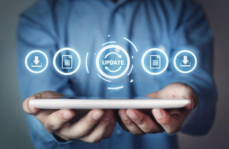 更新节目 事务,技术,互联网概念 免版税图库摄影