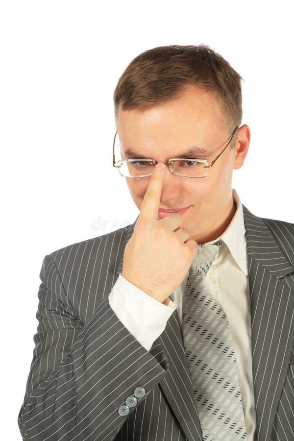 更正洗指碗人 免版税图库摄影