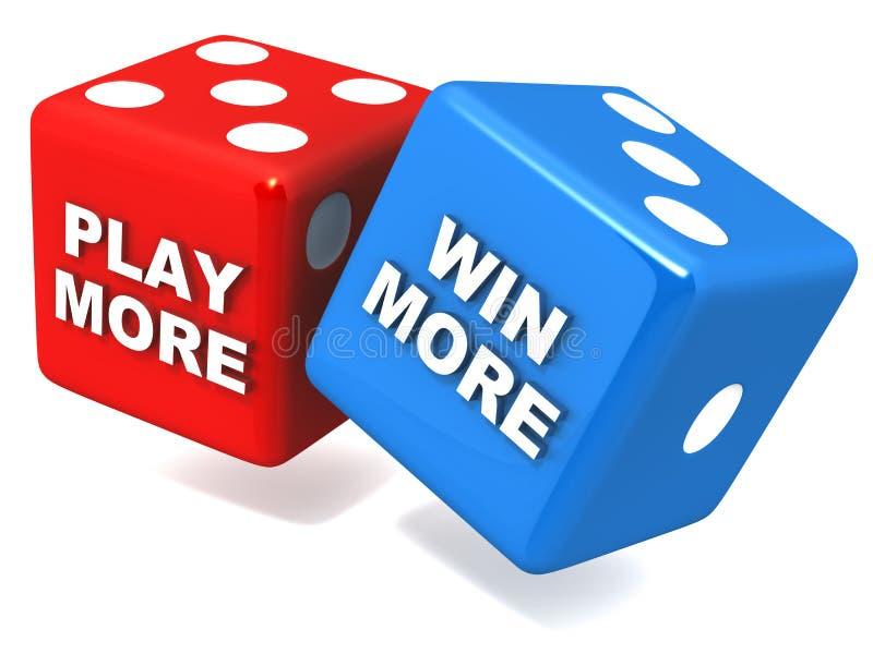 更演奏更多胜利 向量例证