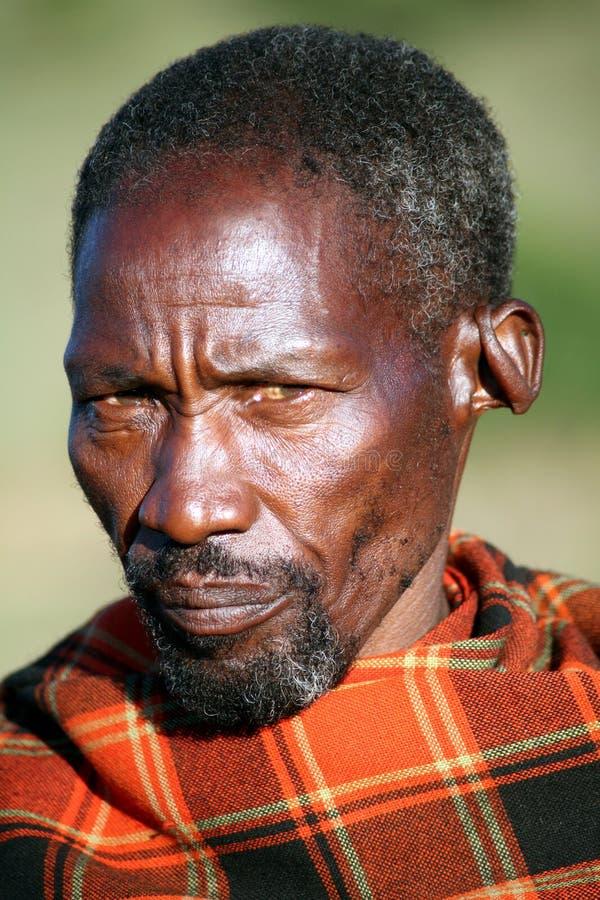 更老的肯尼亚马塞语 免版税库存图片