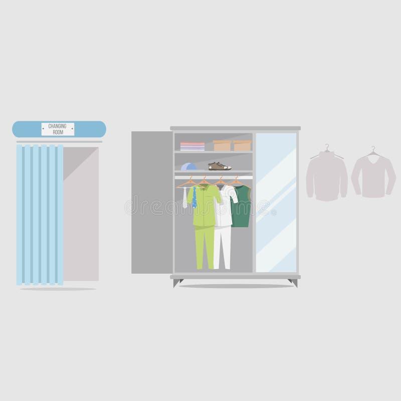 更衣室背景设计 向量例证