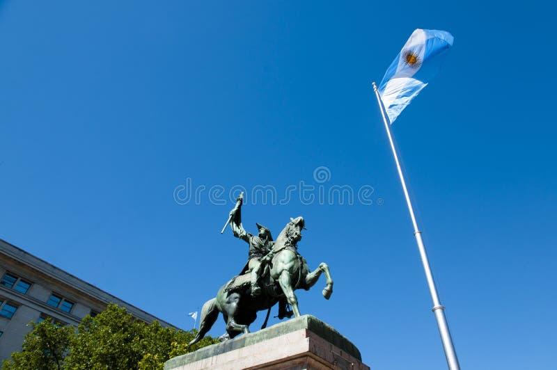 曼努埃尔・贝尔格拉诺将军纪念碑-布宜诺斯艾利斯-阿根廷 免版税库存照片