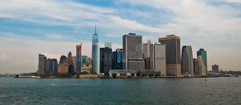 曼哈顿下城NYC全景  免版税库存图片