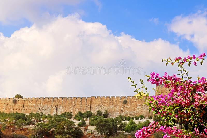 曼哈顿东区耶路撒冷耶路撒冷旧城的圣殿山  库存图片