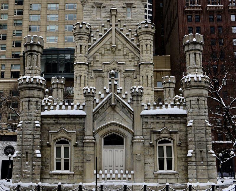 曼哈顿东区芝加哥Watertower 免版税图库摄影