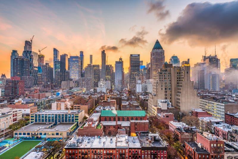 曼哈顿中城都市风景 免版税图库摄影