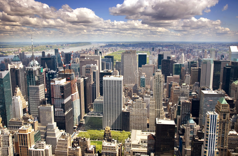 曼哈顿住宅区 免版税图库摄影