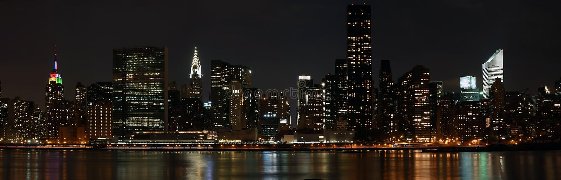 曼哈顿全景 图库摄影