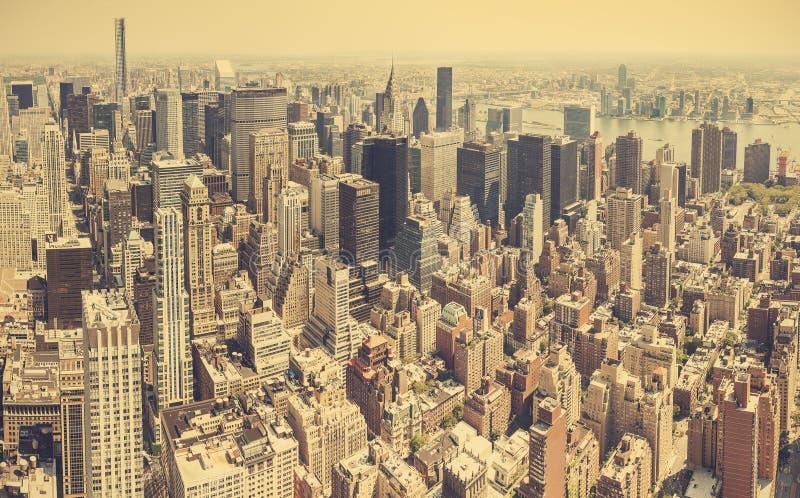 曼哈顿减速火箭的风格化鸟瞰图  免版税库存照片