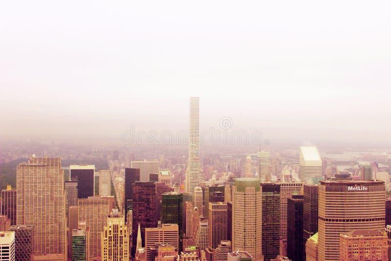 曼哈顿在上面的市视图 库存图片