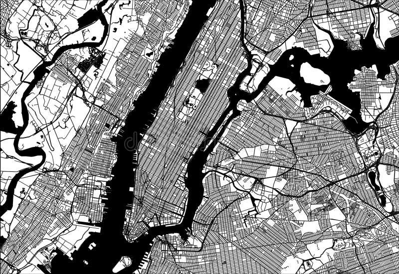 曼哈顿地图  皇族释放例证