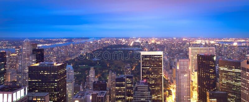 曼哈顿地平线和中央公园 免版税图库摄影