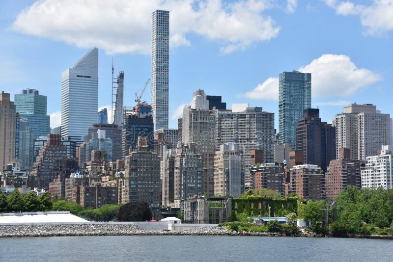 曼哈顿地平线看法  库存图片