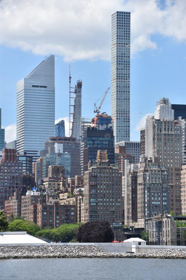 曼哈顿地平线看法  图库摄影