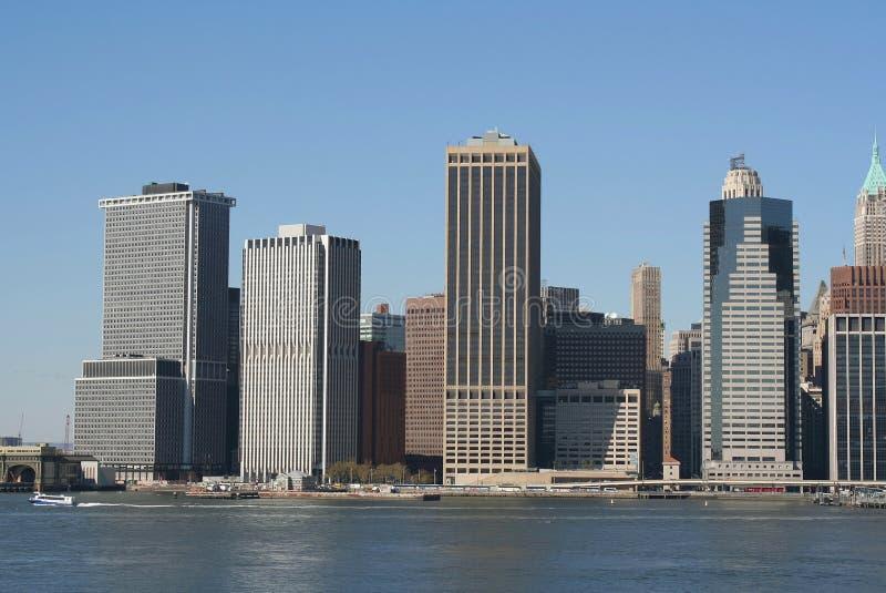 曼哈顿地平线 免版税库存照片