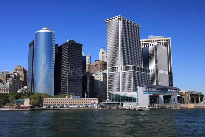 曼哈顿地平线 免版税图库摄影