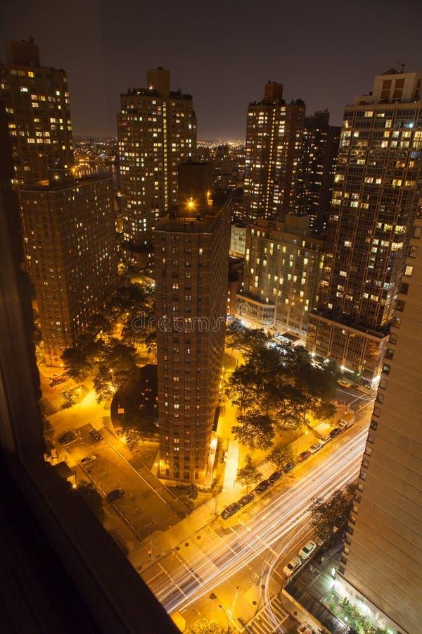 纽约夜地平线  库存照片