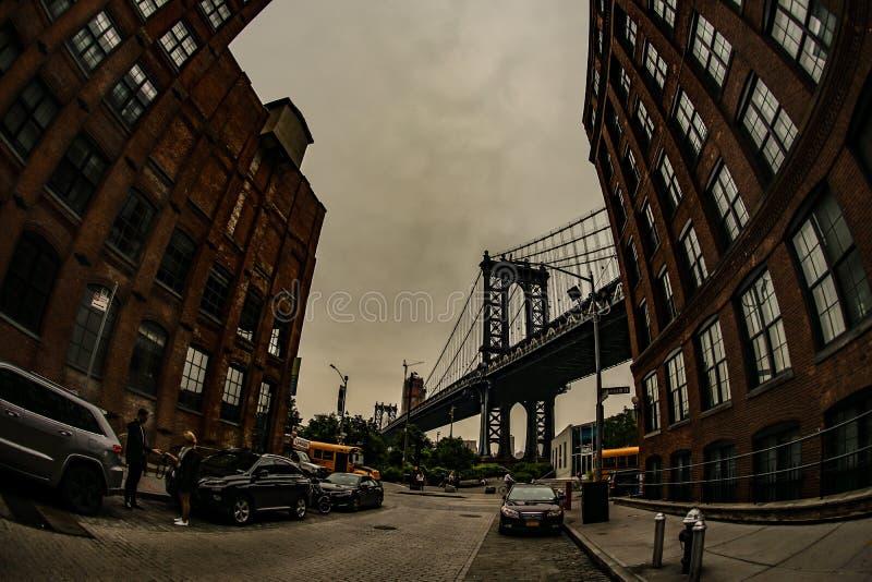 曼哈顿大桥美国,布鲁克林 库存图片