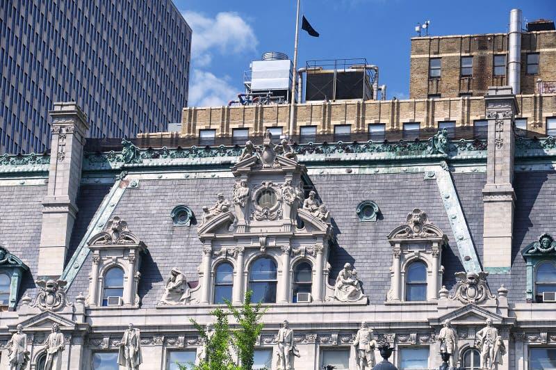 曼哈顿市政修造的纽约 库存照片