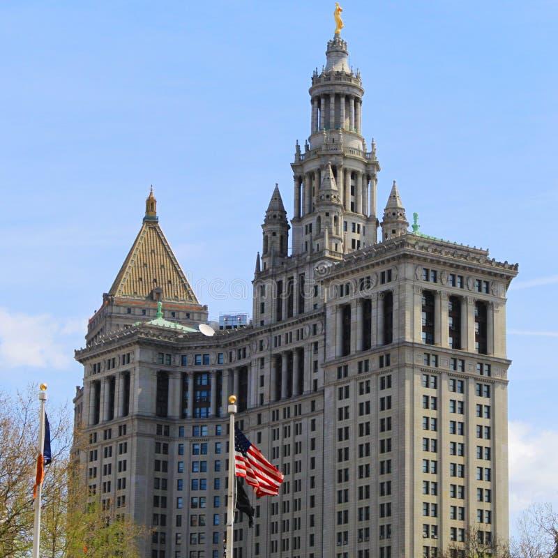曼哈顿市政大厦-纽约大厦 库存图片