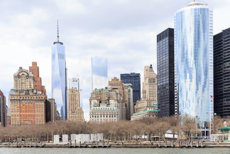 曼哈顿市视图在纽约 免版税库存图片