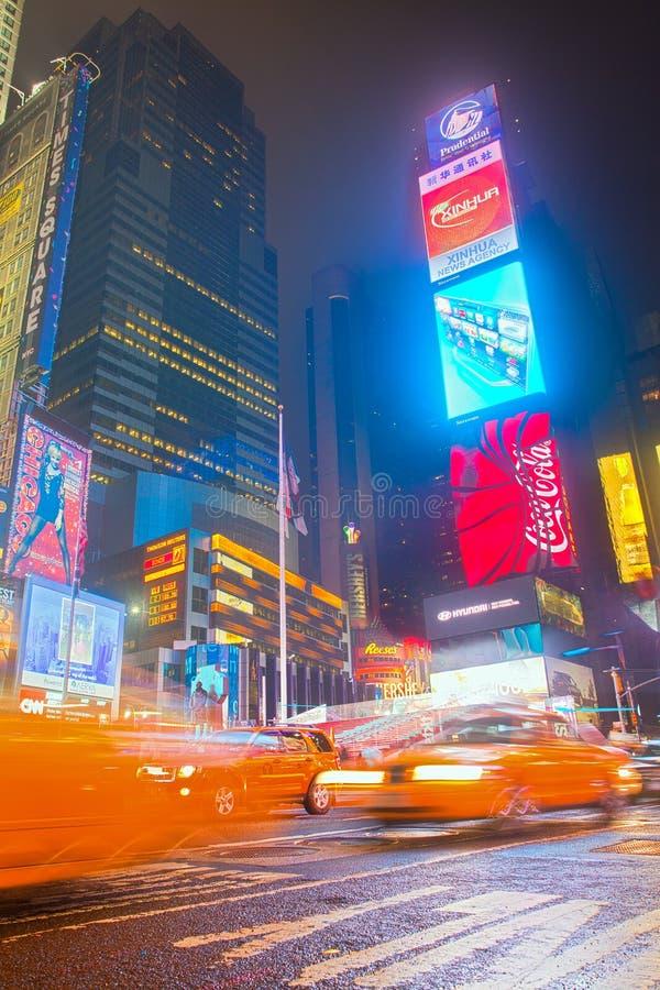 曼哈顿方形时间 城市纽约 免版税库存图片