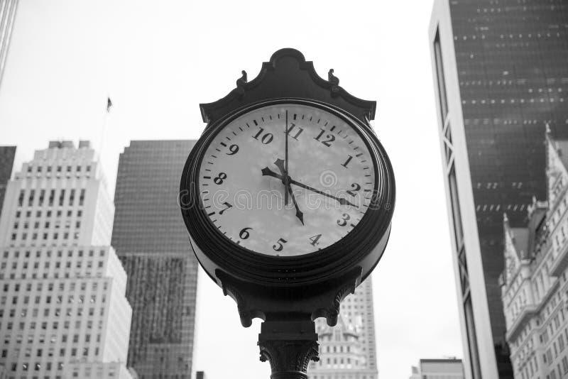 曼哈顿时钟 库存图片