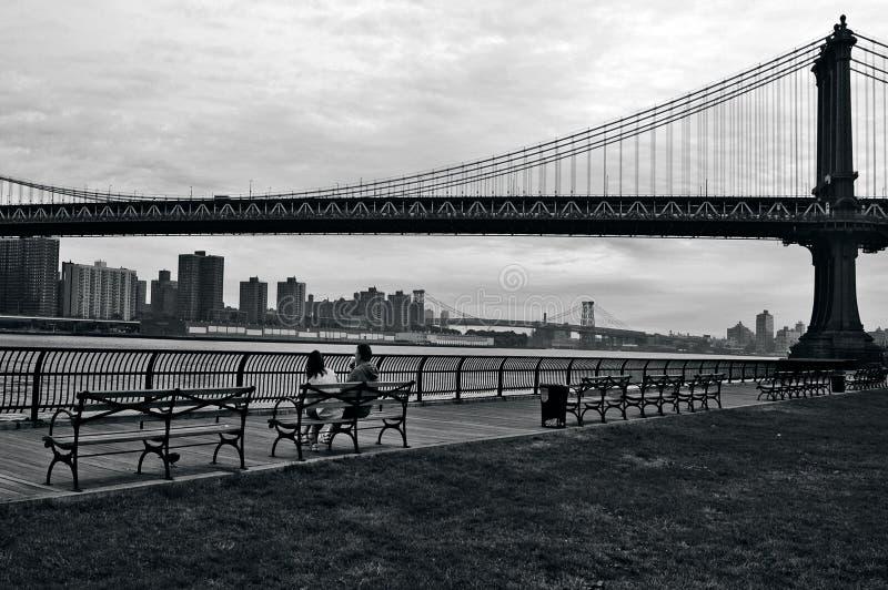 曼哈顿桥梁在曼哈顿纽约城 免版税库存照片