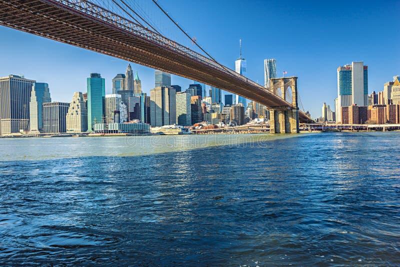 曼哈顿桥梁纽约 免版税库存照片
