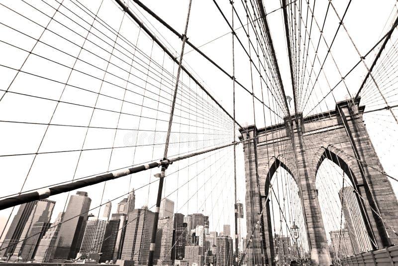 曼哈顿桥梁,纽约。 免版税库存照片