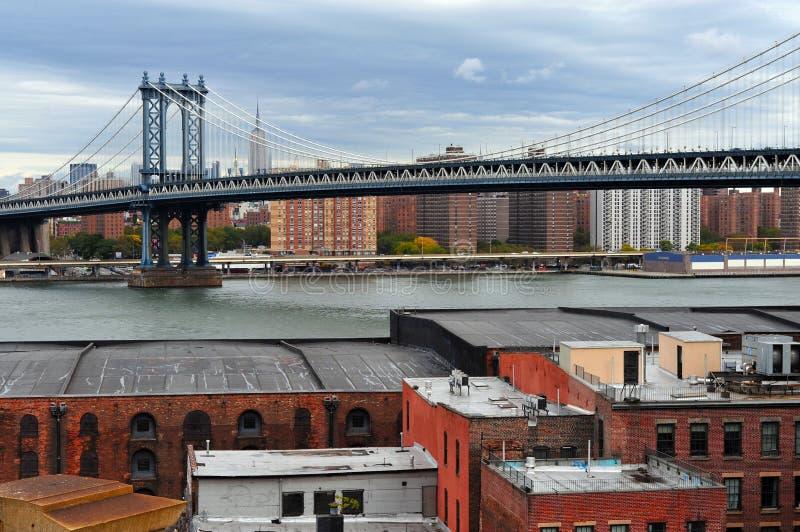 曼哈顿桥梁 免版税图库摄影