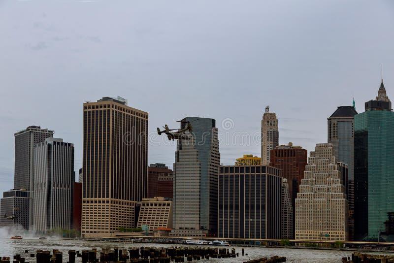 曼哈顿海洋直升机分谴舰队一HMX-1 库存图片
