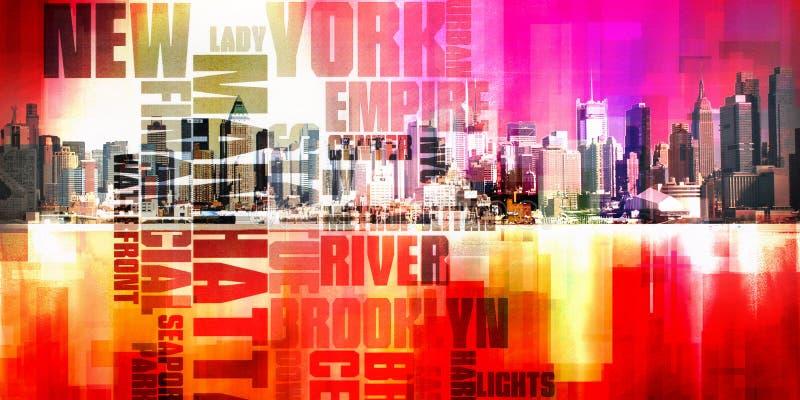 曼哈顿港口 皇族释放例证