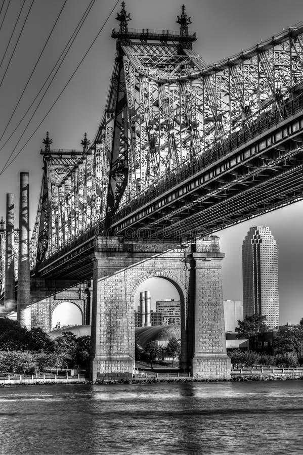 从曼哈顿的Queensboro (爱德科赫)桥梁 库存照片